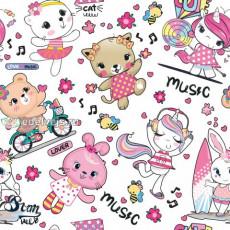 Бумага упаковочная детская (MUSIC) Ed-N-452
