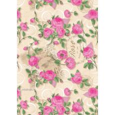 Бумага (меловка) упаковочная цветы Ed-N-291m