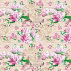 Бумага (меловка) упаковочная цветы Ed-N-306m