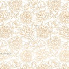 Бумага (пантон) упаковочная цветы белая Ed-N-310m