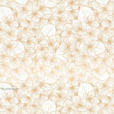 Бумага (меловка) упаковочная белая цветы Ed-N-314m