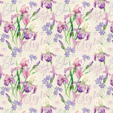 Бумага (меловка) упаковочная цветы Ed-N-316m