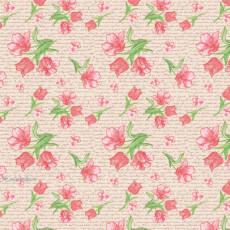 Бумага (меловка) упаковочная цветы Ed-N-319m