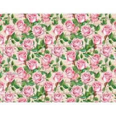 Бумага (меловка) упаковочная (розовые розы) Ed-N-322m