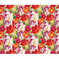 Бумага (меловка) упаковочная (тюльпаны) Ed-N-323m