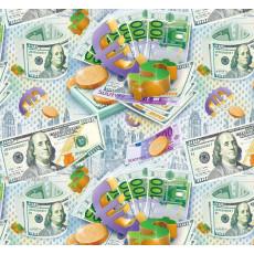 Бумага (меловка) упаковочная (мужская деньги) Ed-N-324m