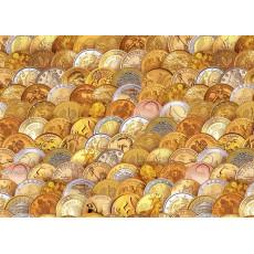 Бумага (меловка) упаковочная (мужская монеты) Ed-N-336m