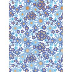 Бумага (меловка) упаковочнаяc с пантоном (цветы синие) Ed-N-264m