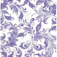 Бумага (меловка) упаковочнаяc с пантоном (цветы синяя) Ed-N-267S