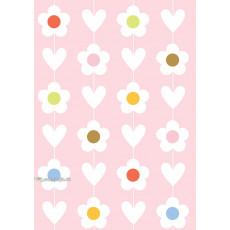 Бумага (меловка) упаковочнаяc женская (розовая) Ed-N-350m