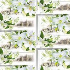 Бумага (меловка) упаковочная женская (орхидеи белые) Ed-N-354m
