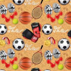 Бумага (меловка) упаковочная детская (мячи) Ed-N-356m