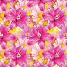 Бумага (меловка) упаковочная женская (орхидеи красные) Ed-N-363m