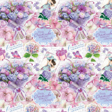 Бумага (меловка) упаковочная женская (Будь Счастлива) Ed-N-364m