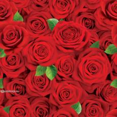 Бумага (меловка) упаковочная женская (Красные розы) Ed-N-366m