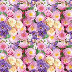 Бумага (меловка) упаковочная женская (цветы) Ed-N-367m