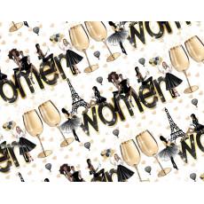 Бумага (меловка) упаковочная (WOMEN) Ed-N-392m