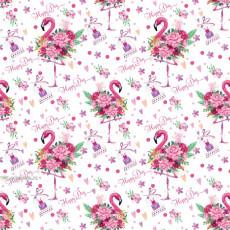 Бумага (меловка) упаковочная (фламинго) Ed-N-400m