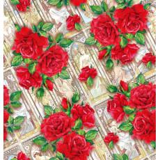 Бумага (меловка) упаковочная (розы, фрески) Ed-N-401m