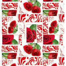 Бумага (меловка) упаковочная (Rose) Ed-N-404m