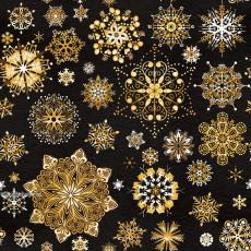 Бумага упаковочная новогодняя (Снежинки) 31-Ed-N-426
