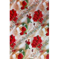 Бумага (меловка) упаковочная (розы, конфеты) Ed-N-001m