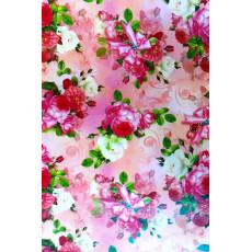 Бумага (меловка) упаковочная (розы) Ed-N-004m