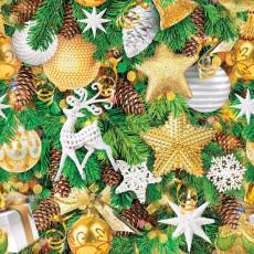 Бумага упаковочная новогодняя (олень) 31-Ed-N-382