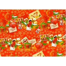 Бумага упаковочная новогодняя (Merry Christmas, птички) 31-Ed-N-002