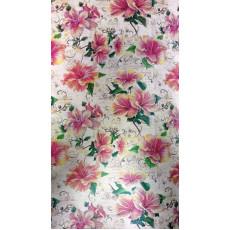 Бумага (меловка) упаковочная (Цветы) Ed-N-026m