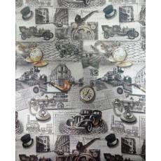 Бумага Крафт темная упаковочная (мужская машины, трубка) Ed-N-193