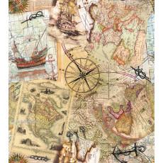 Бумага меловка упаковочная (мужская карты) Ed-N-233m