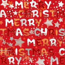 Бумага упаковочная новогодняя (Merry Chrictmas) 31-Ed-N-428