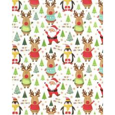 Бумага упаковочная новогодняя (Merry Christmas) 31-Ed-N-457