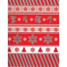 Бумага с пантоном упаковочная новогодняя (красная) 31-Ed-N-430