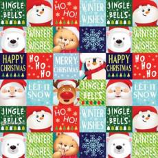 Бумага упаковочная новогодняя (Ho Ho) 31-Ed-N-464