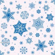 Бумага упаковочная новогодняя (белая снежинки) 31-Ed-N-212