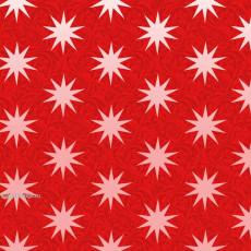 Бумага с пантоном упаковочная новогодняя (звезды красная) 31-Ed-N-246K