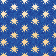 Бумага с пантоном упаковочная новогодняя (звезды синяя) 31-Ed-N-246S