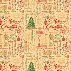 Бумага упаковочная новогодняя (Merry Christmas) 31-Ed-N-248