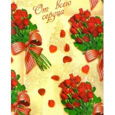 Бумага (меловка) упаковочная (Розы, конфеты) Ed-N-167m