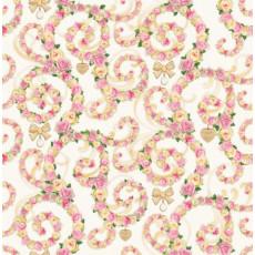 Бумага (меловка) упаковочная (узоры из роз) Ed-N-145m