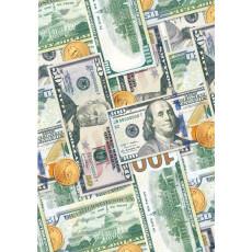 Бумага меловка упаковочная (Деньги доллары) Ed-N-320m