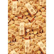Бумага меловка упаковочная (Золото) Ed-N-321m