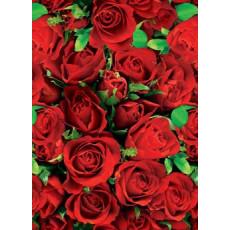 Бумага (меловка) упаковочная (красные розы) Ed-N-030m