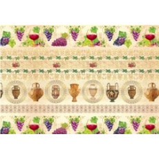 Бумага (меловка) упаковочная (Виноград вазы) Ed-N-70m