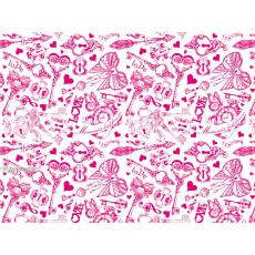 Бумага (меловка) упаковочная (белая ключи) Ed-N-239m