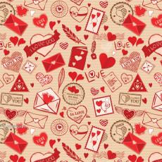 Бумага (меловка) упаковочная (I LOVE YOU) Ed-N-386m