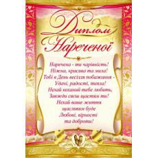 Набор свадебных дипломов ED-30-00-01y