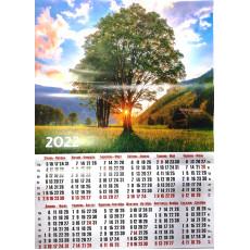 "Календарь-плакат природа ""Дерево"" (УКР) на 2022 год AK22-P-03y"